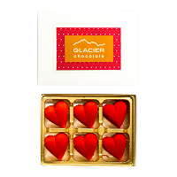 Valentine's Day Red Velvet Truffle Hearts - 6 PIECE </br></br> *STARTS SHIPPING FEBRUARY 1ST*