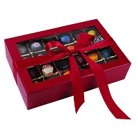 Red Window Box </br> 48 PIECE Signature Truffles  </br> (Red boxes out of stock. Currently only available in pearl white.)